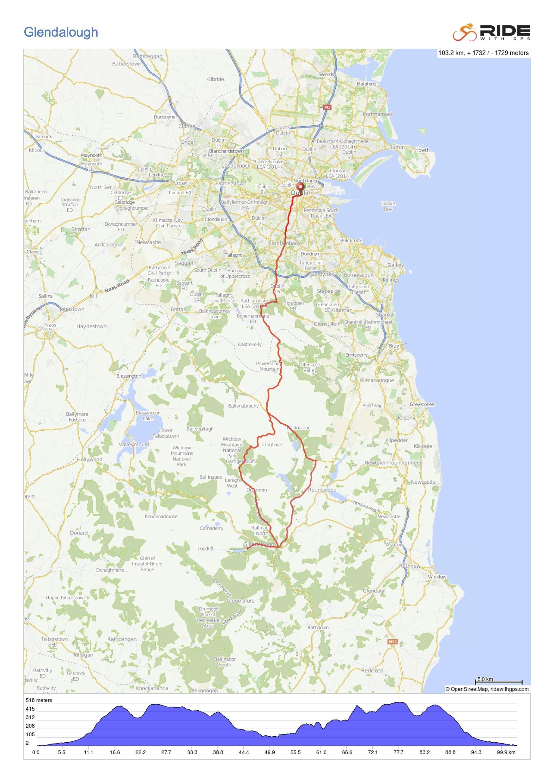 Glendalough-map